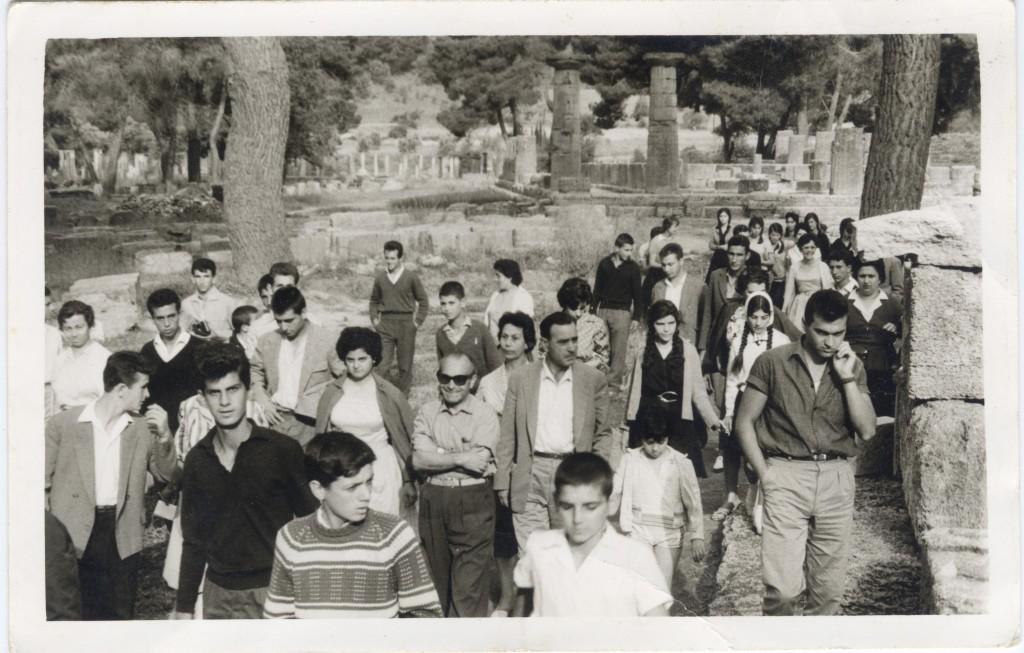Ολυμπία με το Γυμνάσιο Ορχομενού, 29-5-1961
